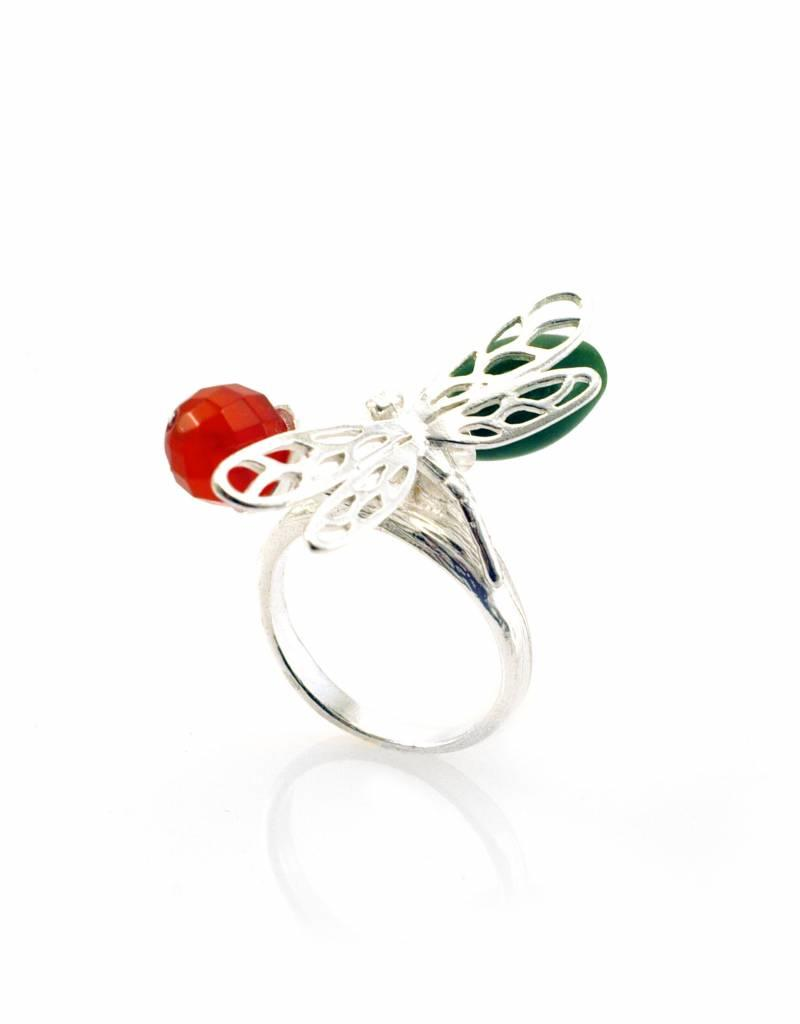 Rebels & Icons Ring dragonfly - silver