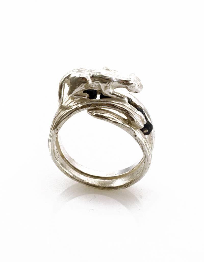 Ring tijger - zilver