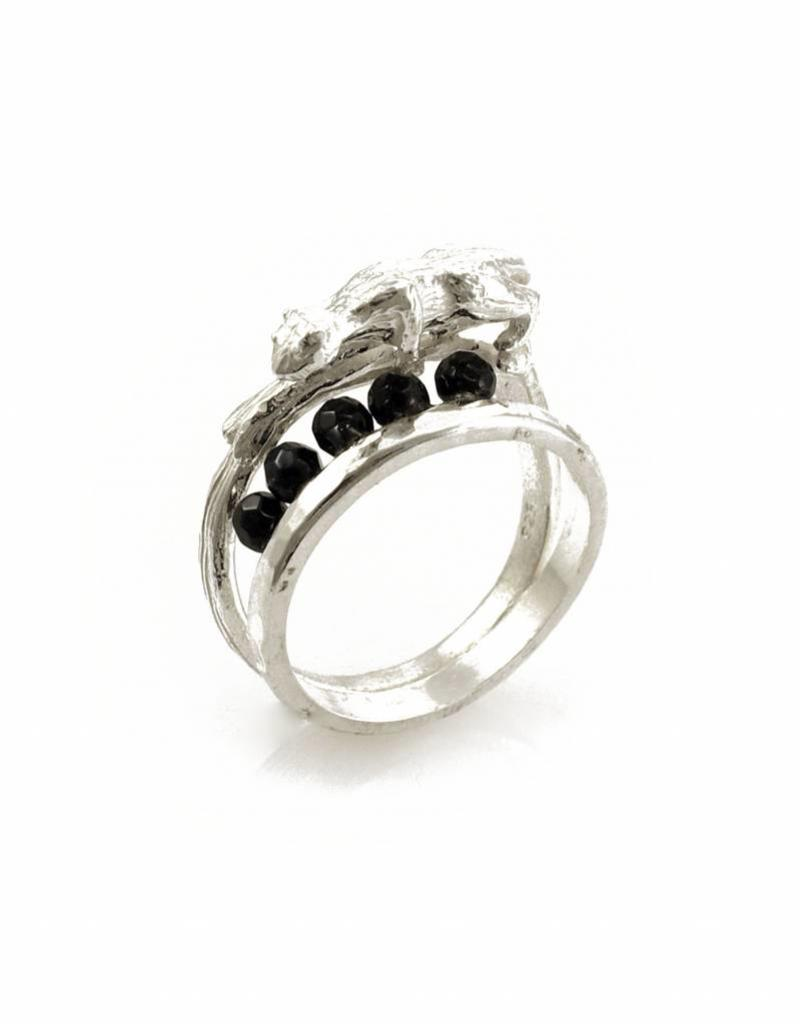 Rebels & Icons Ring tijger - zilver