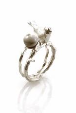 Rebels & Icons Ring vogel op tak - zilver