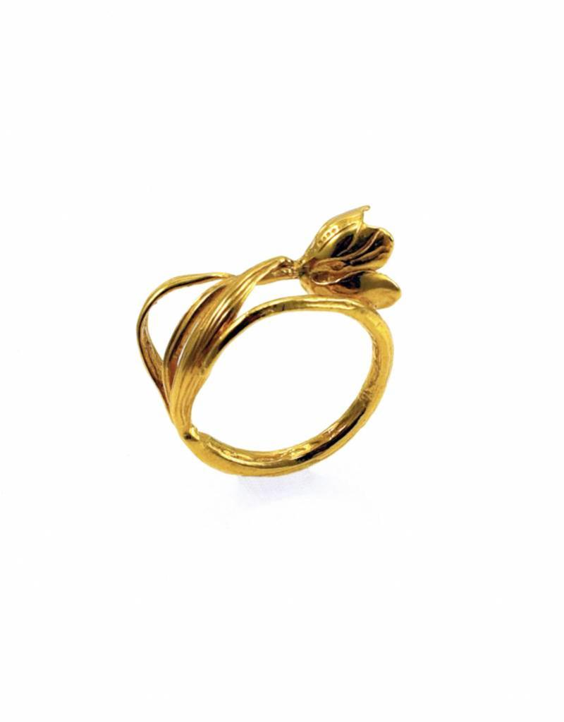 Rebels & Icons Ring ice flower - gold