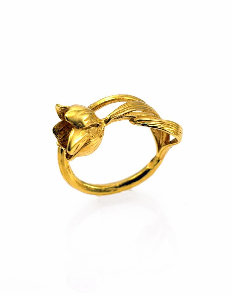 Ring ice flower - gold