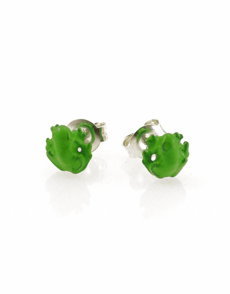 Rebels & Icons Post earrings frog - green