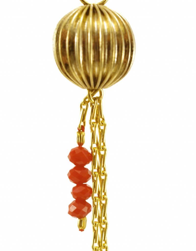 Oorbellen lampion - goud