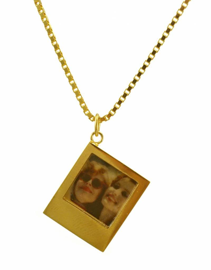 Rebels & Icons Necklace polaroid - gold