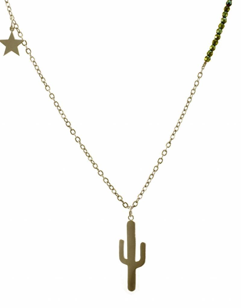 Necklace cactus & star