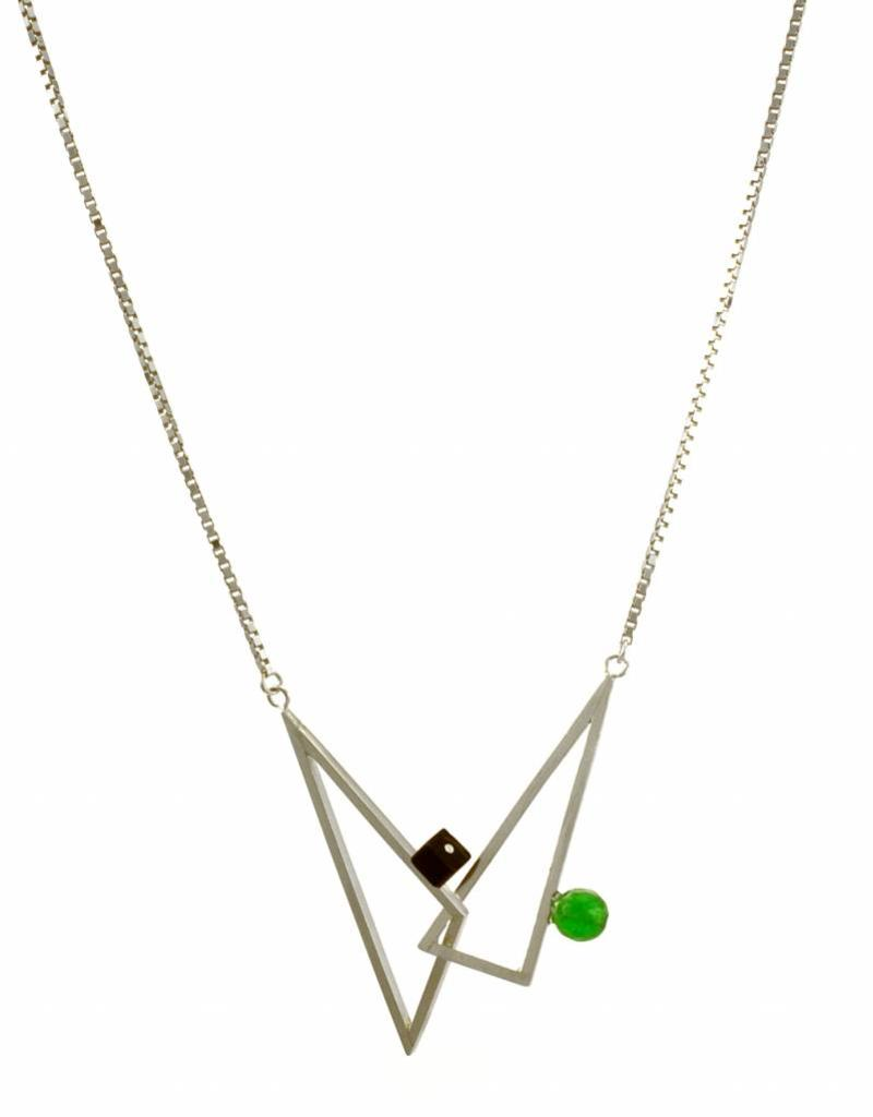 Rebels & Icons Necklace interlocking triangles