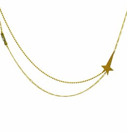 Necklace pointing star