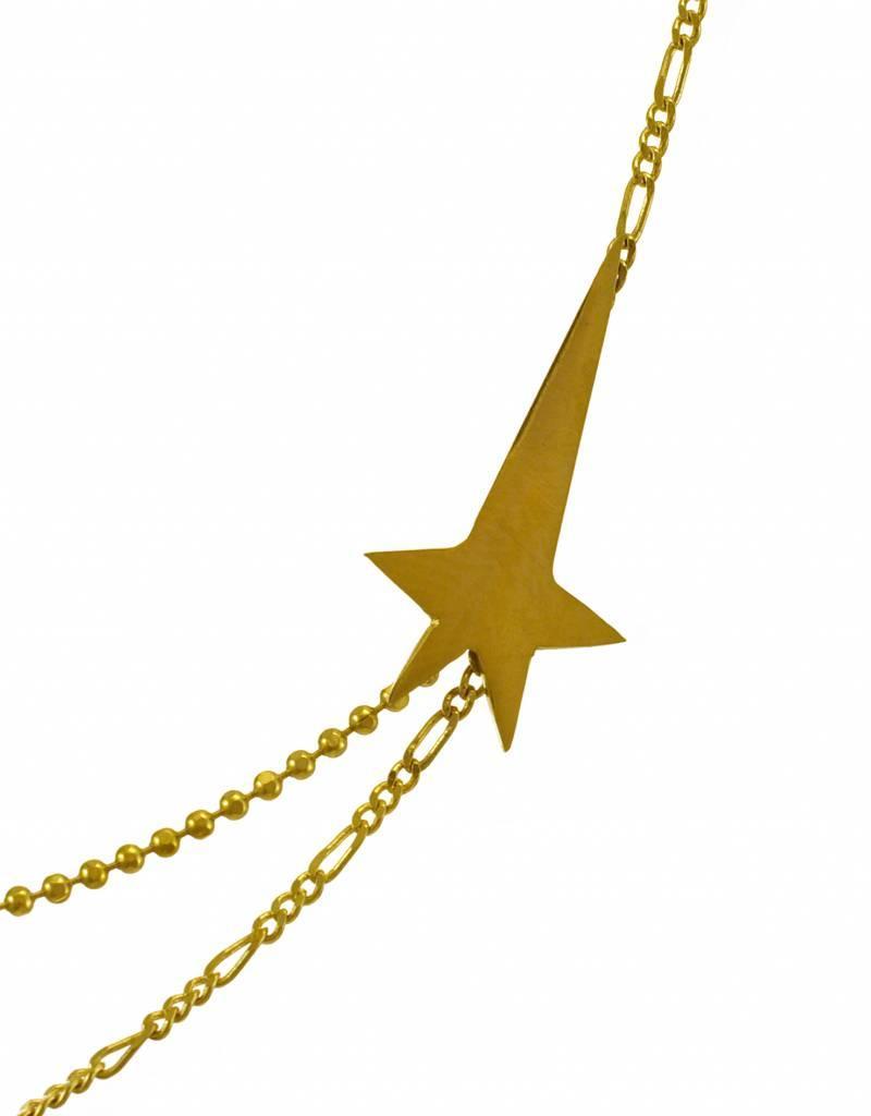 Rebels & Icons Korte ketting vallende ster