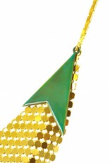 Rebels & Icons Necklace mesh - gold with candy teal arrow
