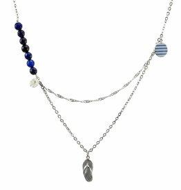 Multiple necklace flip-flop