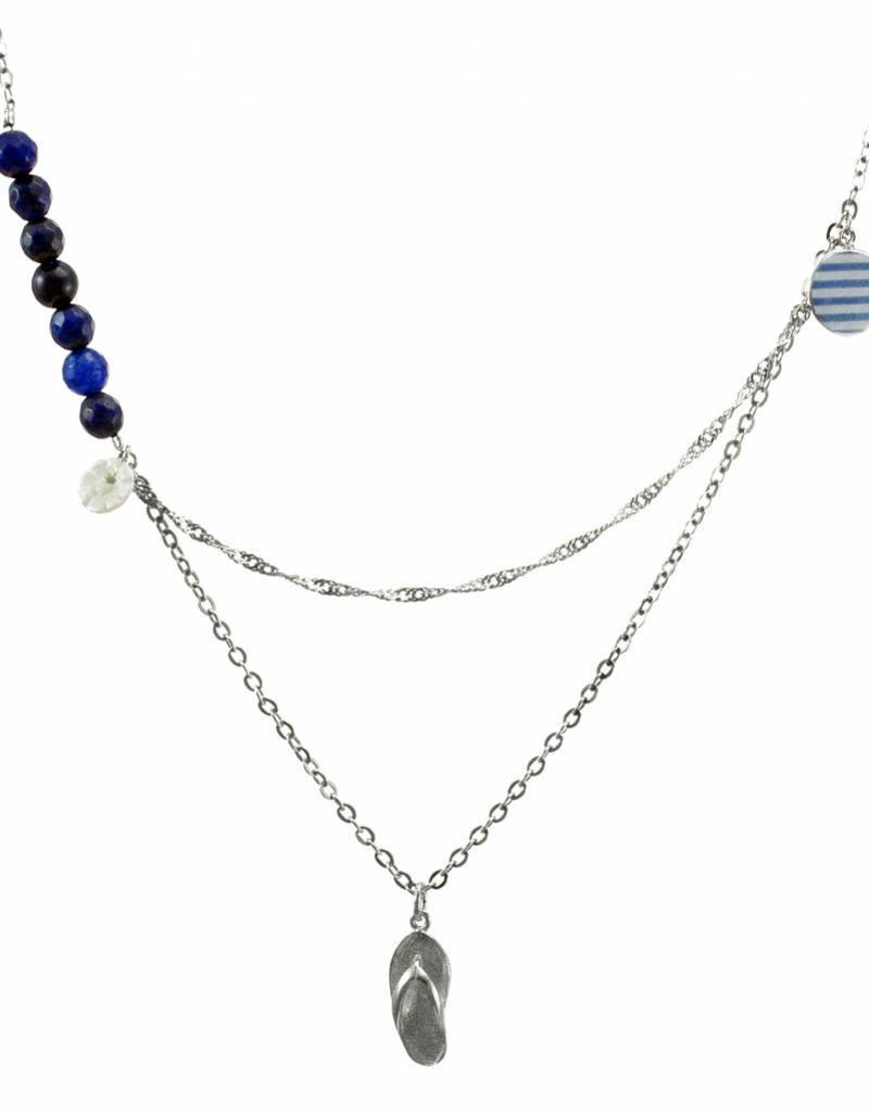 Rebels & Icons Multiple necklace flip-flop