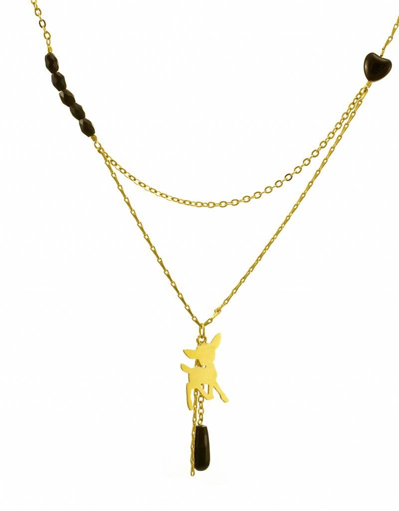 Rebels & Icons Multiple necklace fawn