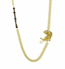 Long necklace tiger
