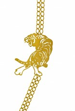 Rebels & Icons Long necklace tiger - gold