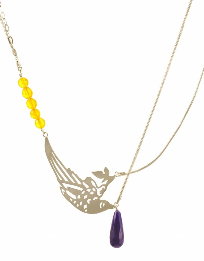 Rebels & Icons Multiple necklace paradise bird