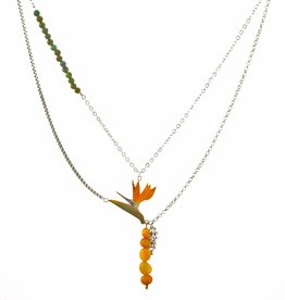 Rebels & Icons Multiple necklace flower of paradise