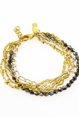 Bracelet multiple chains - mixed