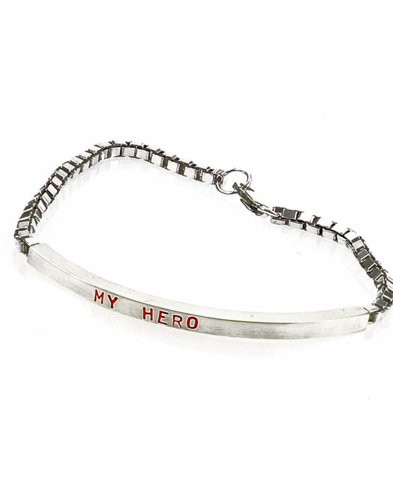 Armband My Hero - zilver
