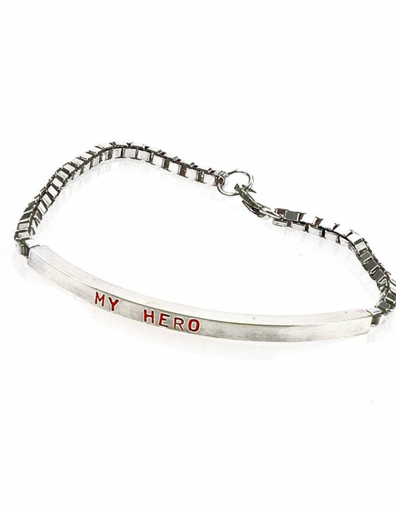 Rebels & Icons Armband My Hero - zilver