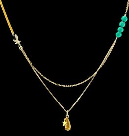 Necklace eagle, star & hematite drop
