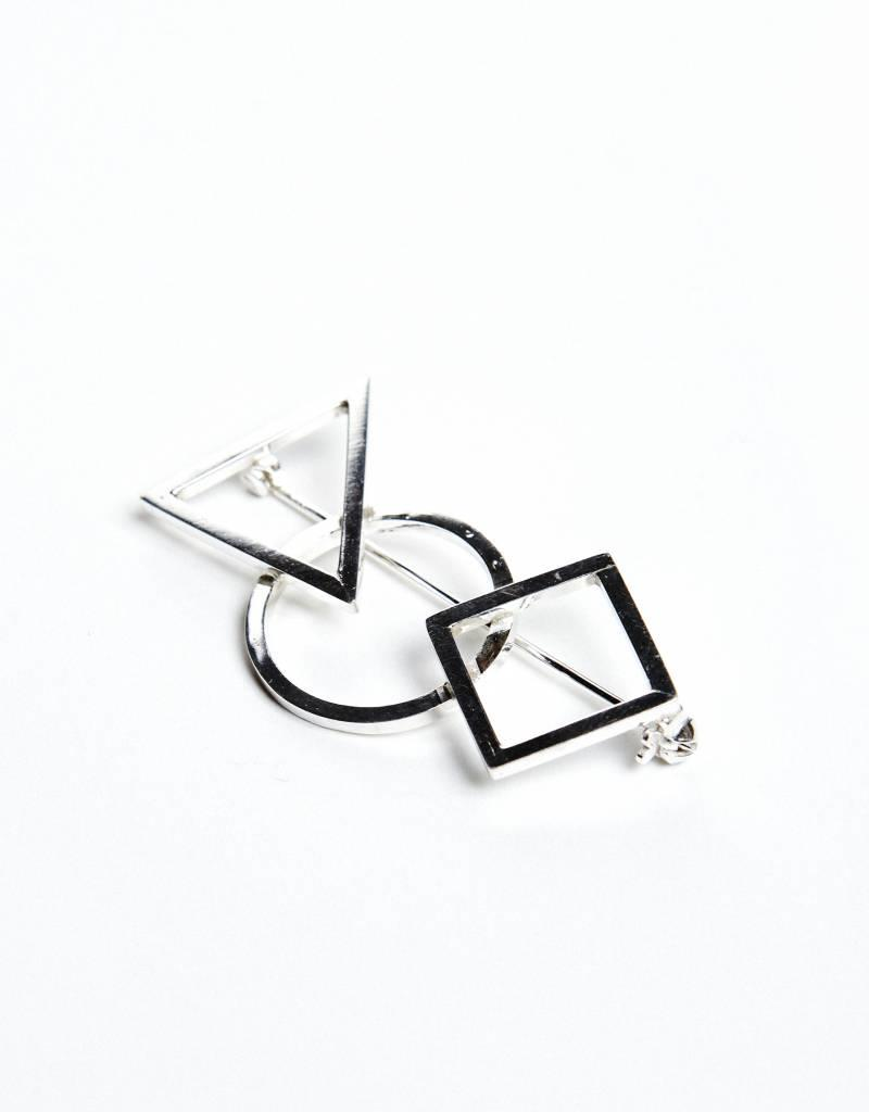 Rebels & Icons Broche 3 geometrische vormen