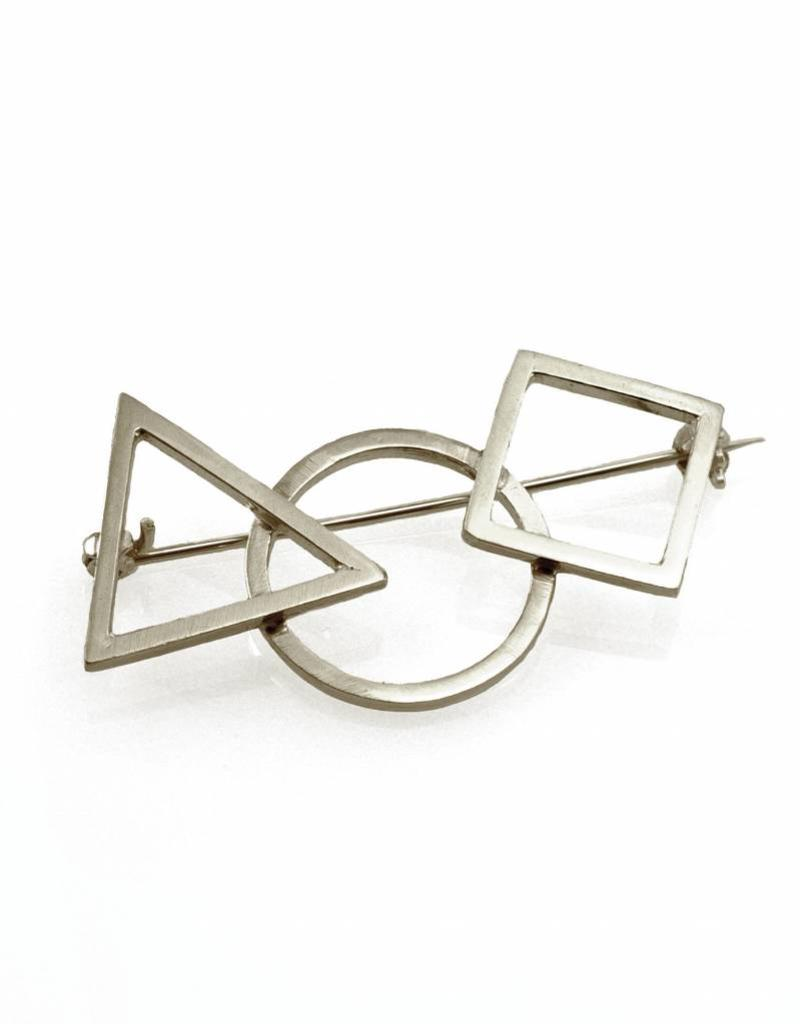 Rebels & Icons Brooch 3 geometrical shapes