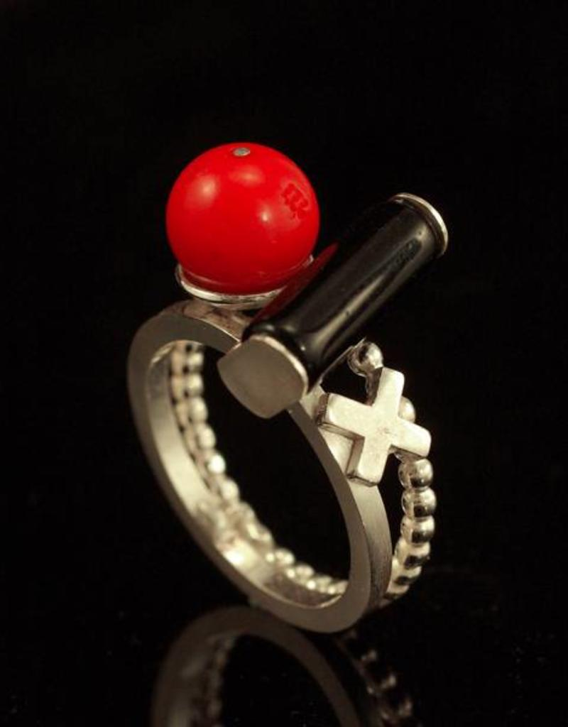 Rebels & Icons Ring cross, cylinder and sphere