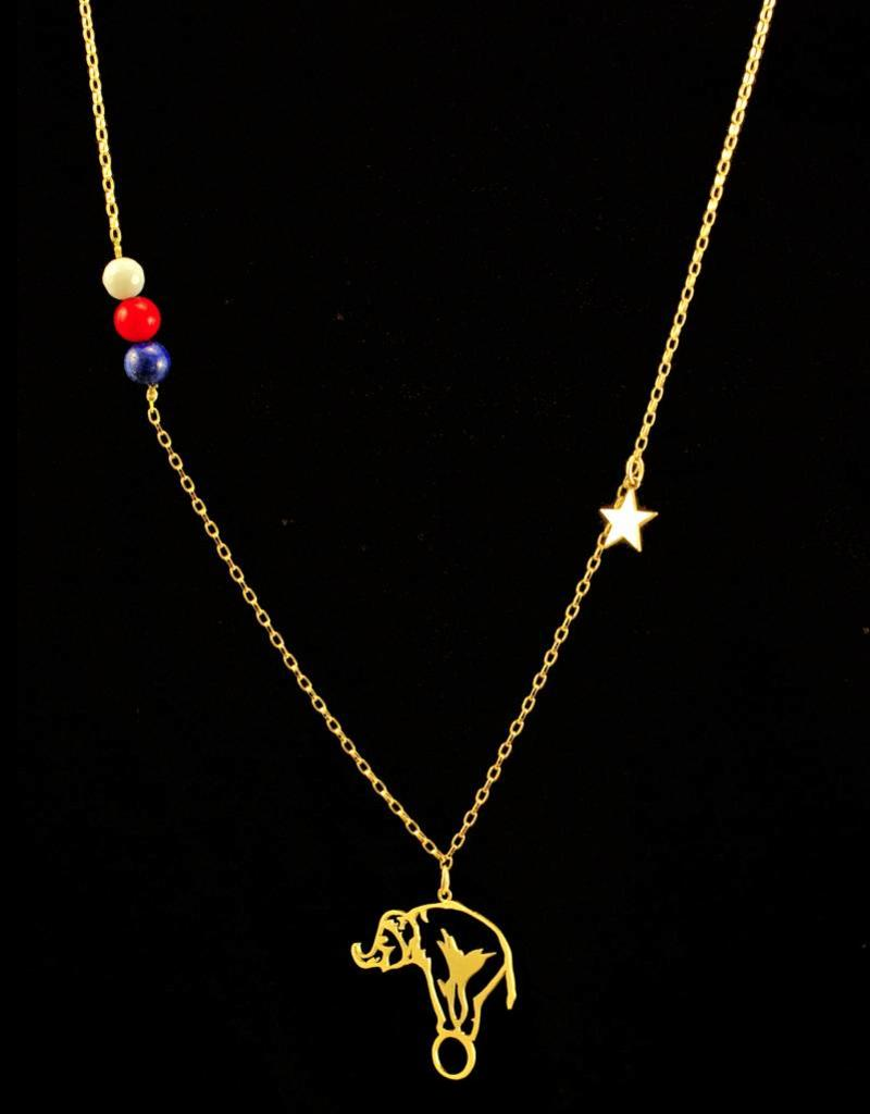 Rebels & Icons Necklace elephant outline