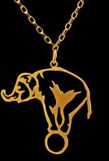 Rebels & Icons Ketting olifant outline