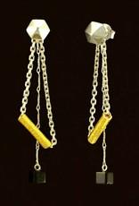 Oorstekers hangend zeshoek - mixed