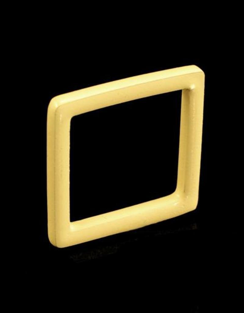Ring vierkant - ivoor