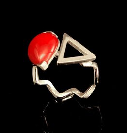 Rebels & Icons Ring cabochon en driehoek