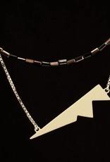Ketting silhouet - zilver + ivoor