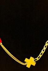 Rebels & Icons Korte ketting kruis - goud