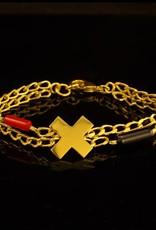 Armband kruis - goud