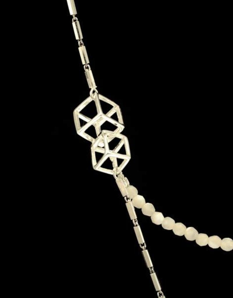 Samengestelde ketting Mondriaan - zilver