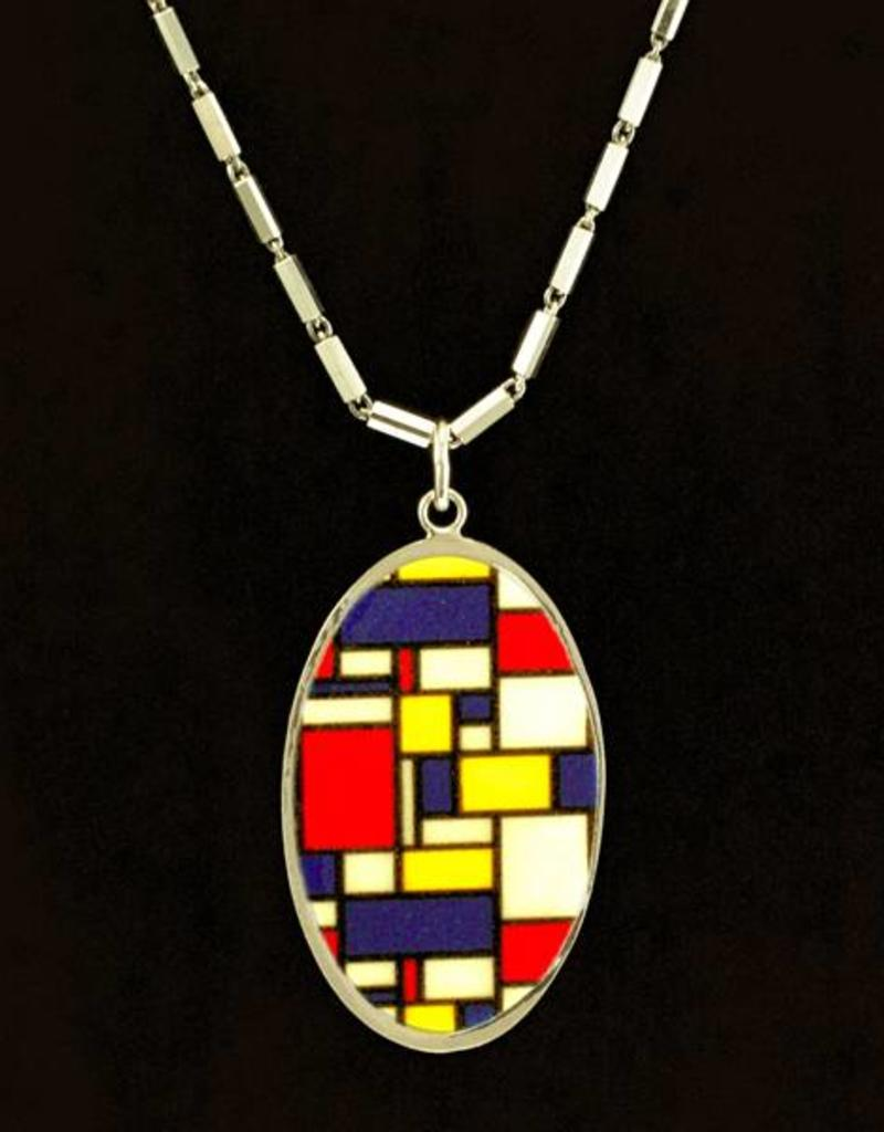 Rebels & Icons Multiple necklace Mondriaan - silver