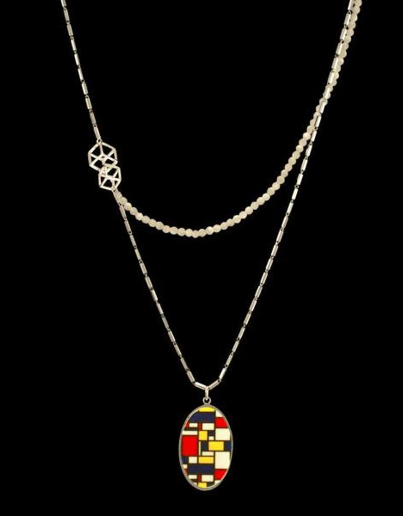 Rebels & Icons Samengestelde ketting Mondriaan - zilver