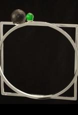 Armband cirkel en vierkant - zilver