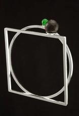 Rebels & Icons Armband cirkel en vierkant - zilver