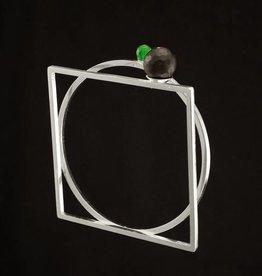 Bangle bracelet circle & square