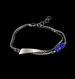 Bracelet trapezium and lapis