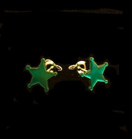 Post earrings sheriff's star