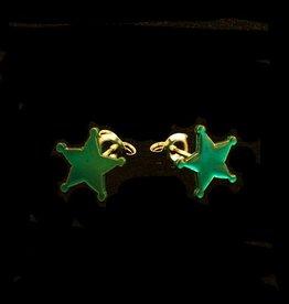 Rebels & Icons Post earrings sheriff's star