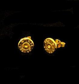Post earrings bullet's end