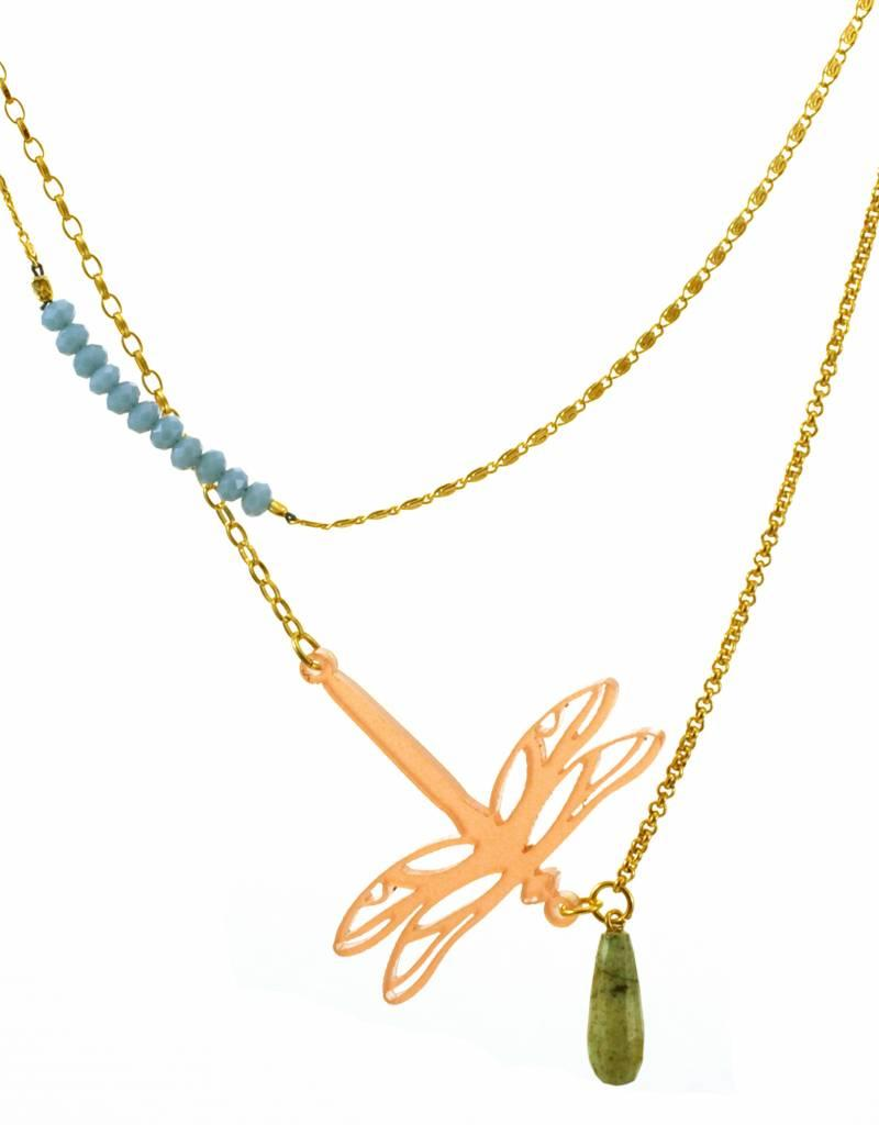 Rebels & Icons Multiple necklace dragonfly