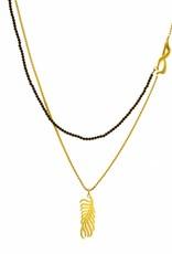 Multiple necklace palm leaf