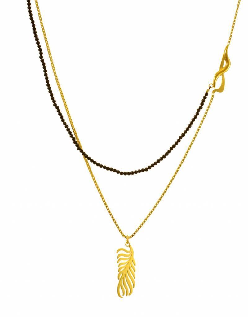 Samengestelde ketting palmblad