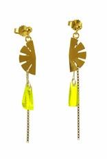 Post earrings pendant papyrus